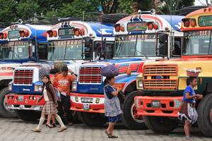 Buses in Guatemala